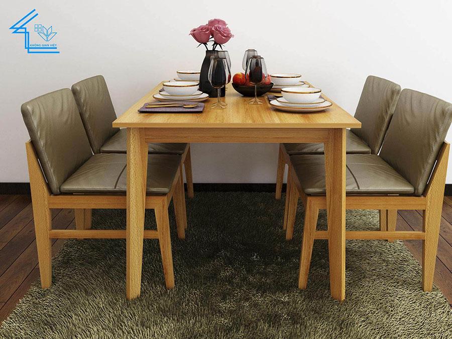 bàn ăn đẹp, ấn tượng cho chung cư