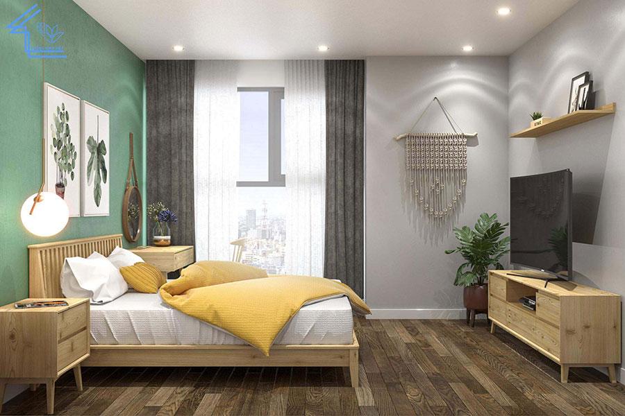 phòng ngủ chung cư 70m2 1