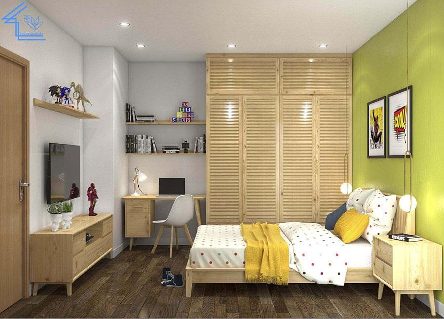 phòng ngủ thứ 2 chung cư 70m2 2