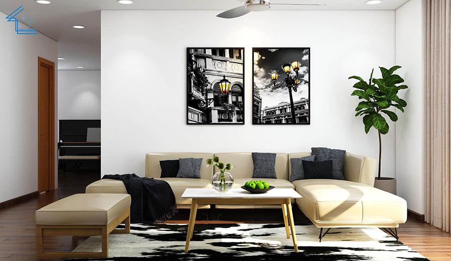 thiết kế nội thất căn hộ chung cư flc 4010