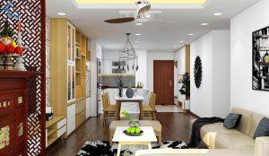 thiết kế nội thất căn hộ chung cư flc 4010-2