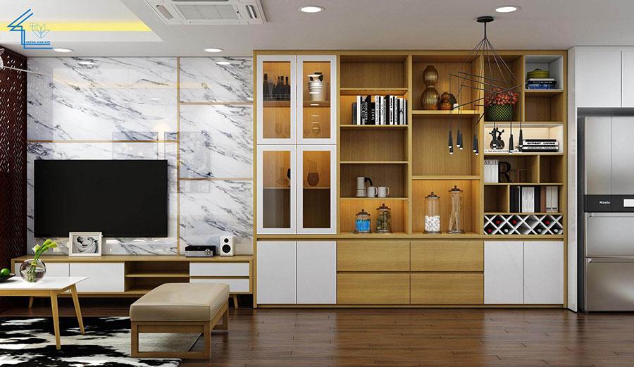 thiết kế nội thất căn hộ chung cư flc 4010-4
