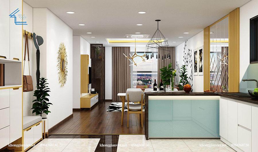 thiết kế nội thất căn hộ chung cư flc 4010-5