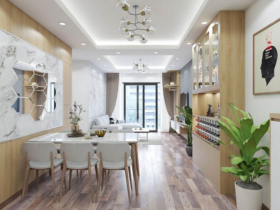 thiết kế nội thất chung cư anh đức lê văn lương 2