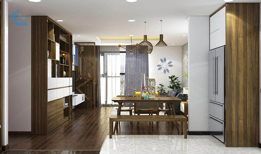 phòng khách chung cư theo phong cách tự do