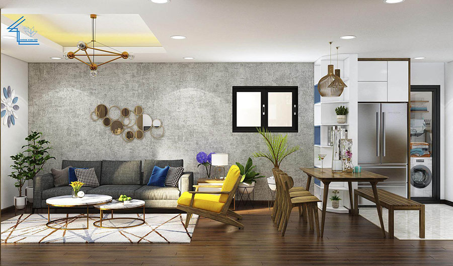 thiết kế nội thất chung cư FLC 9003