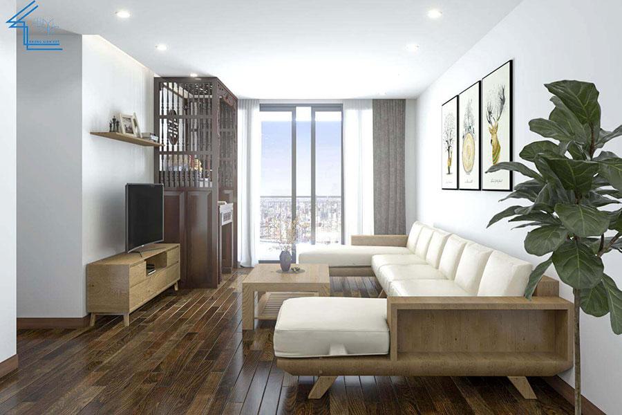 thiết kế nội thất chung cư nhà anh ngọ LVT-1