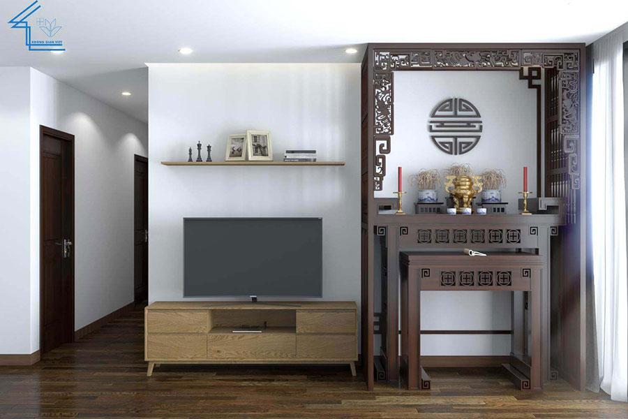 thiết kế nội thất chung cư nhà anh ngọ LVT-2
