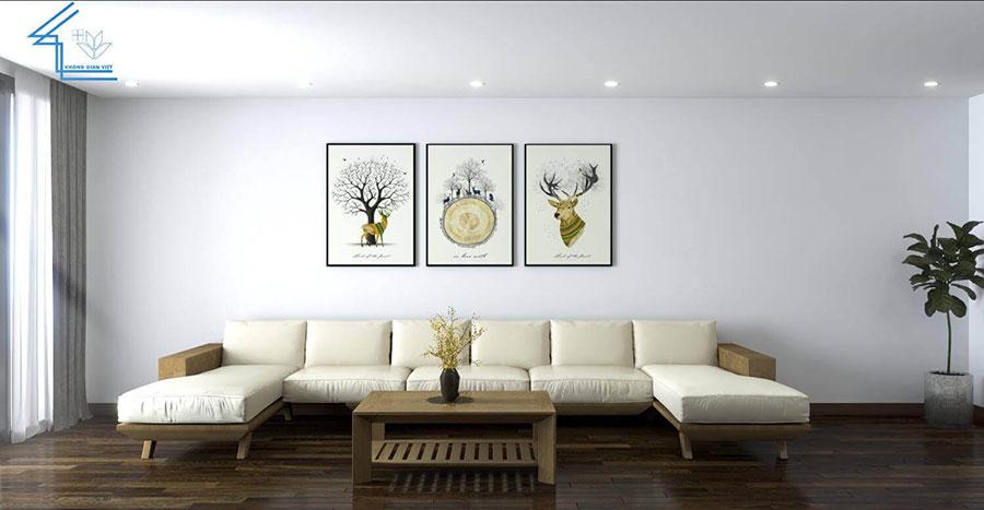 thiết kế nội thất chung cư nhà anh ngọ LVT-3
