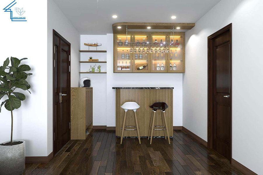 thiết kế nội thất chung cư nhà anh ngọ LVT-4