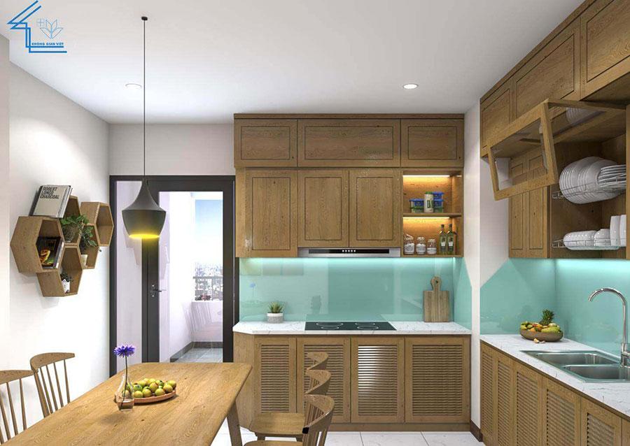 thiết kế nội thất chung cư nhà anh ngọ LVT-5
