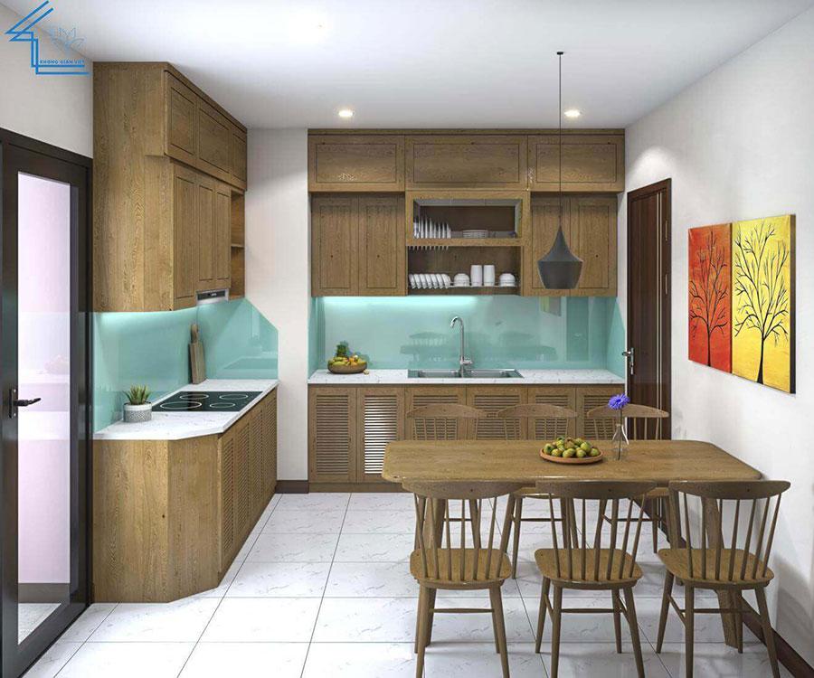 thiết kế nội thất chung cư nhà anh ngọ LVT-6