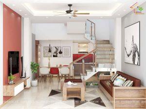 thiết kế nội thất nhà phố anh tâm hưng yên 3