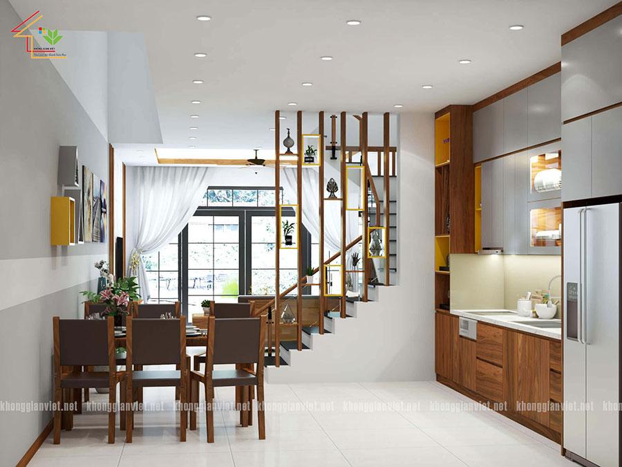 thiết kế nội thất nhà phố nhà anh tuấn anh quốc oai - 2