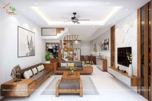 thiết kế nội thất nhà phố nhà anh tuấn anh quốc oai - 3