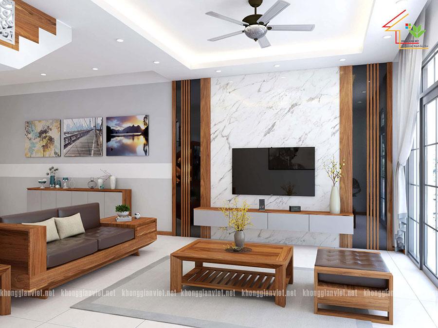 thiết kế nội thất nhà phố nhà anh tuấn anh quốc oai - 5