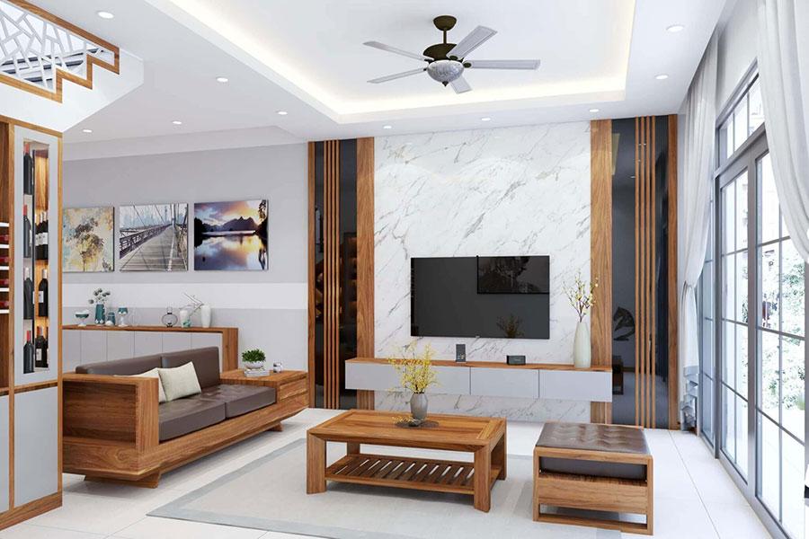 thiết kế nội thất nhà phố nhà anh tuấn anh quốc oai - 6