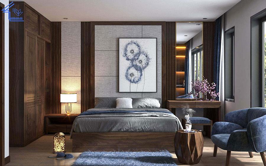nội thất phòng ngủ biệt thự full gỗ