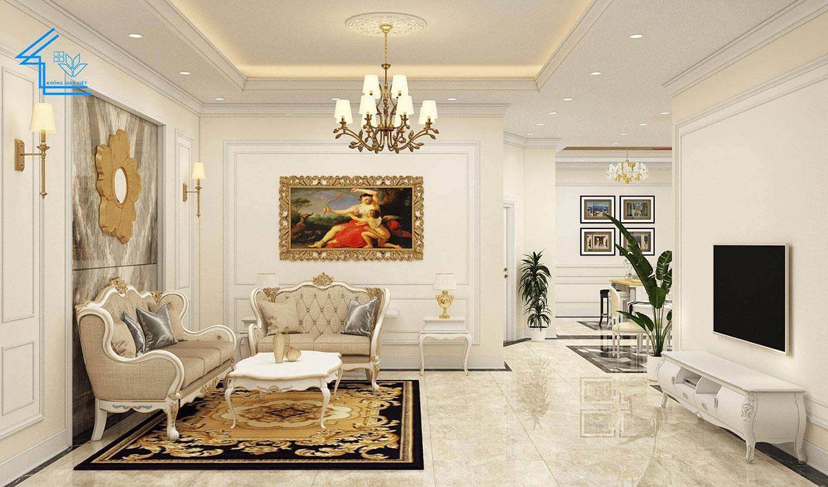 nội thất phòng khách biệt thự 1