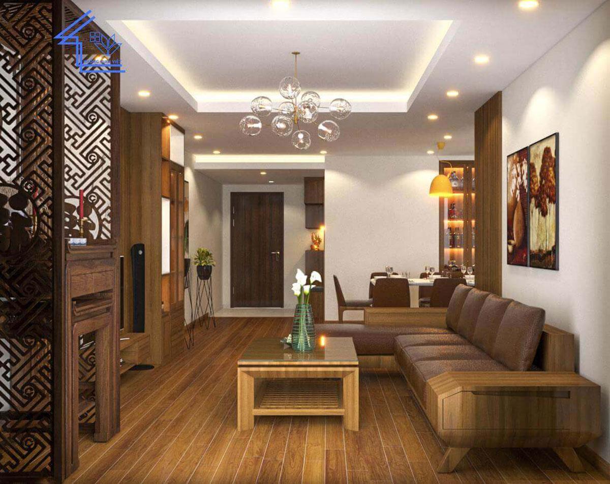 phòng khách chung cư 6