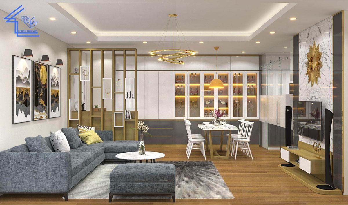 phòng khách chung cư 8