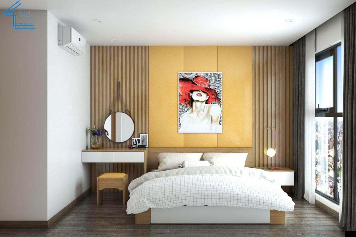 nội thất phòng ngủ chung cư đơn giản