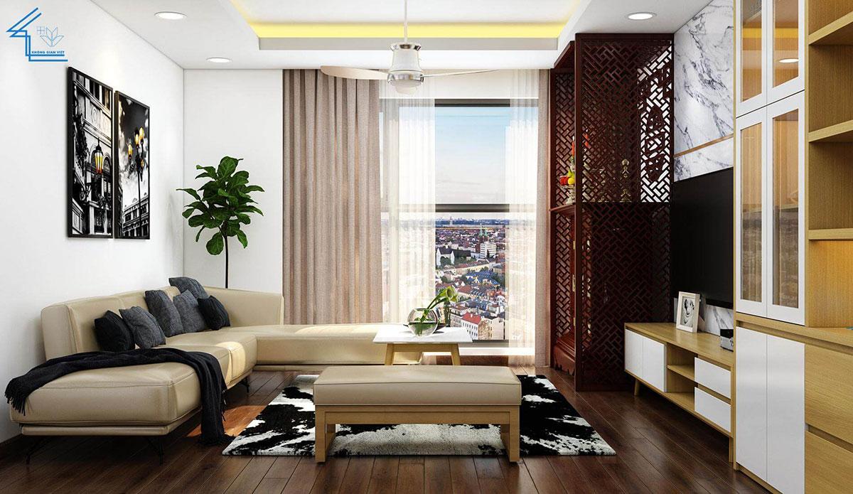 phòng khách chung cư 60m2