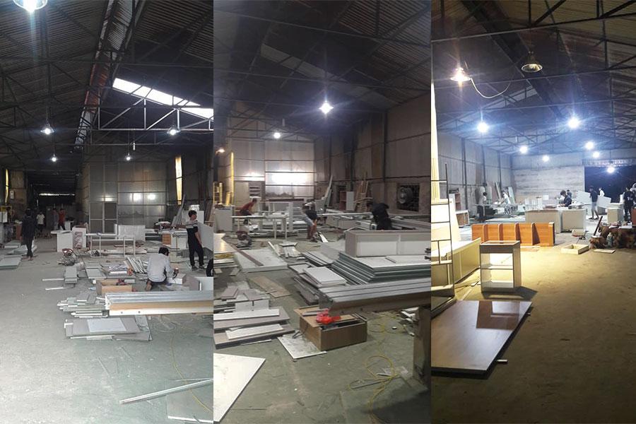 xưởng sản xuất nội thất Không Gian Việt