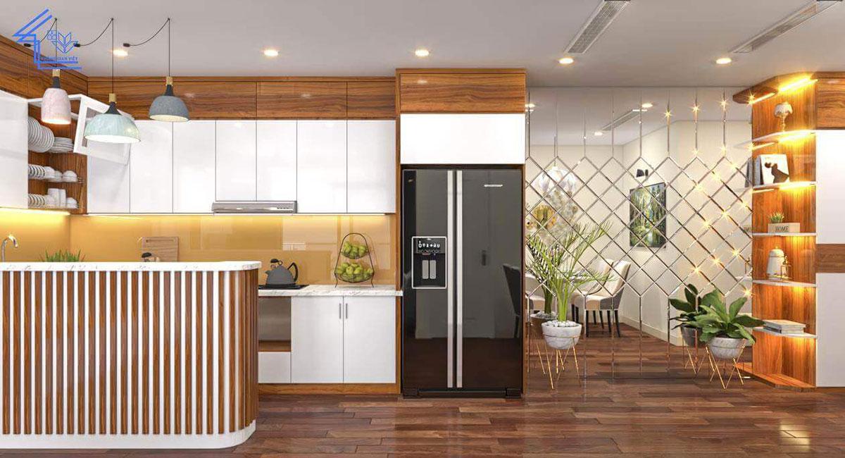 bếp của chung cư 2 phòng ngủ