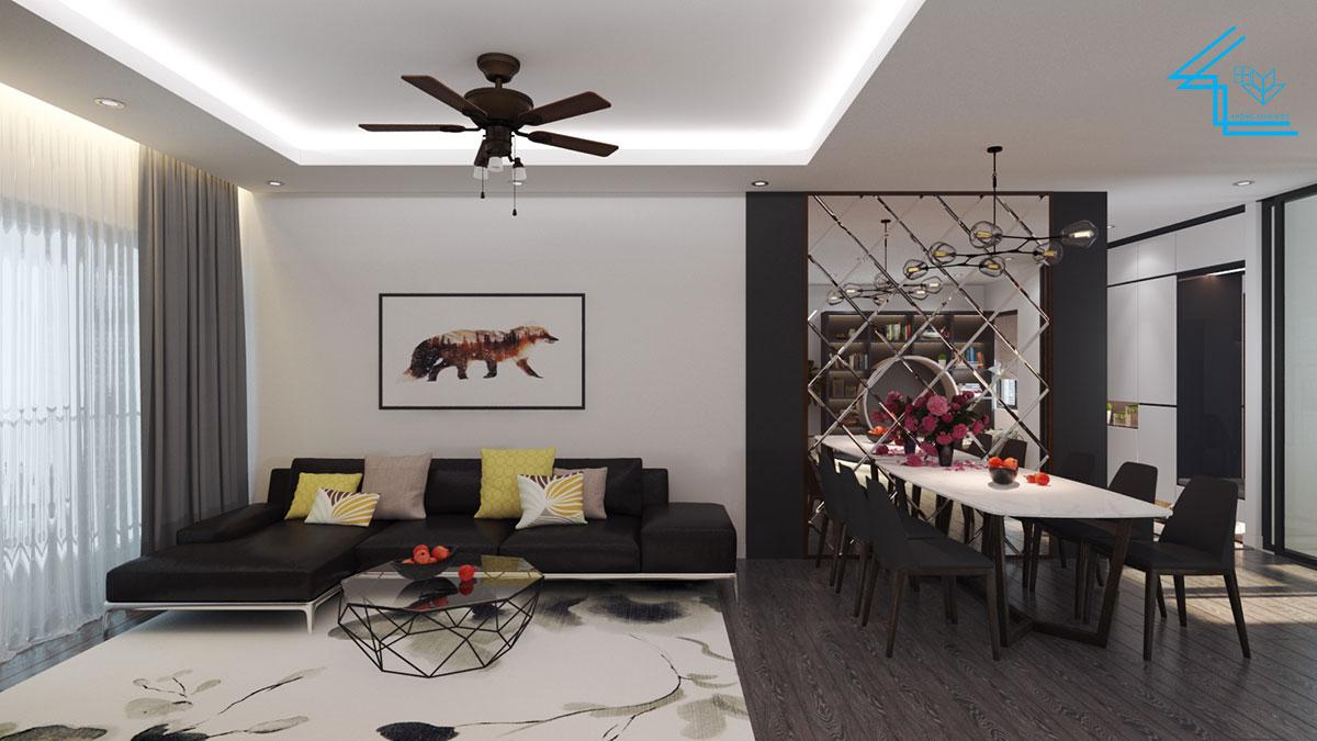 nội thất chung cư 100m2 theo phong cách tói giản