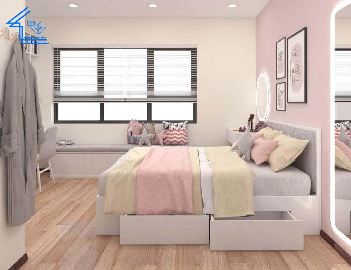 phòng ngủ chung cư 43 phạm văn đồng