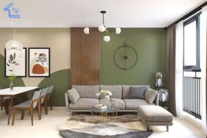 thiết kế nội thất chung cư chị hoa