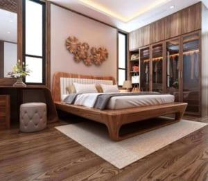 mẫu giường ngủ gỗ đẹp tự nhiên