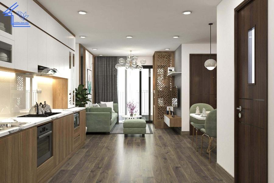 Không gian phòng khách của chung cư nhỏ